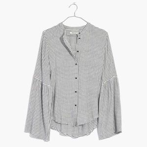 Madewell Bell Sleeve Flannel Top